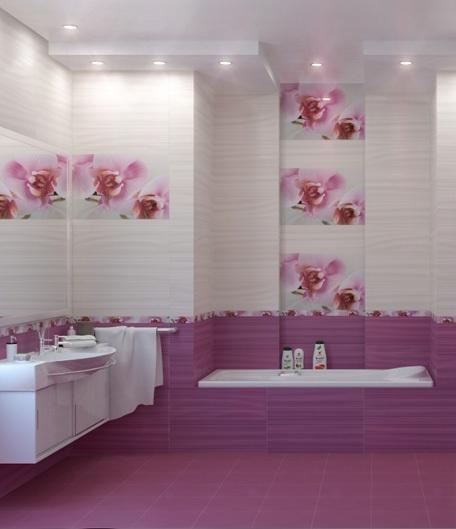 Carrelage au sol salle de bain à Pessac  Antony